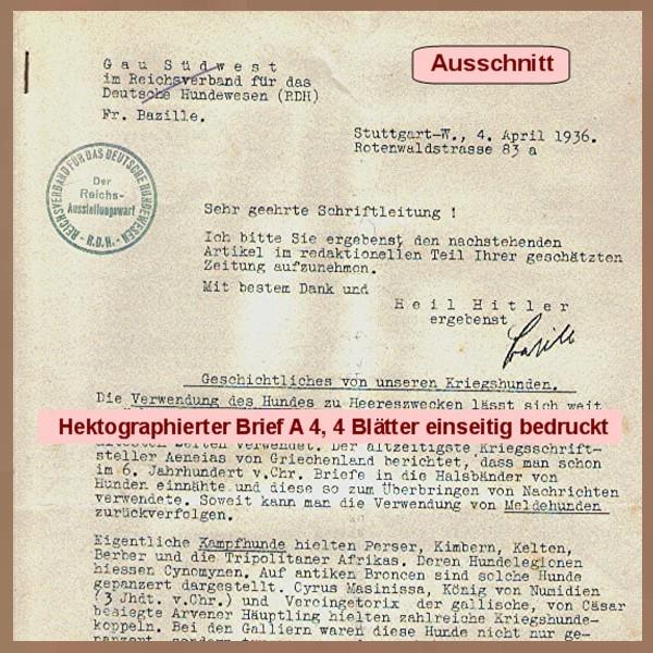 reichsverband für das deutsche hundewesen